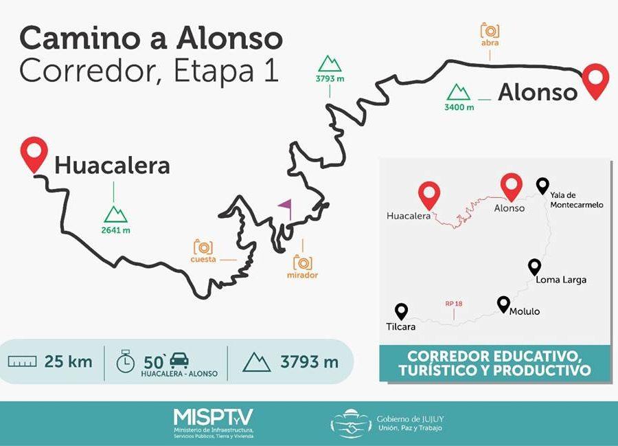 Mapa Camino Alonso 1ra estapa