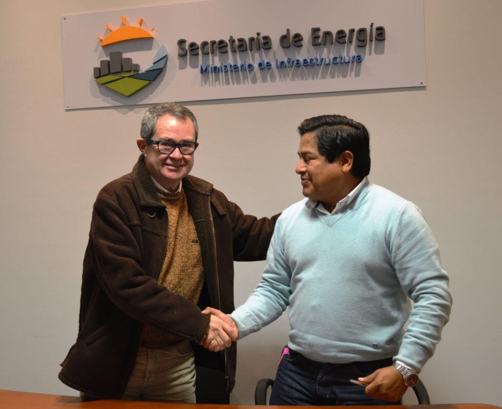 El Secretario de Energía Mario Pizarro y el Intendente de Monterrico  Carlos Ibarra