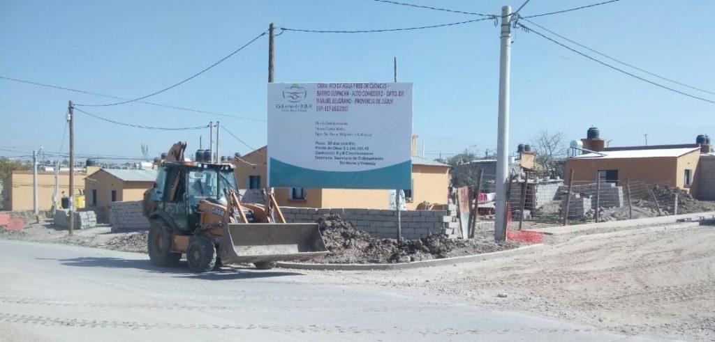 La Secretaría Ordenamiento Territorial y Vivienda, se encuentra ejecutando obras de infraestructura en Alto Comedero.