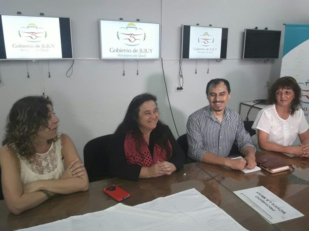 Directora de Planasup, Rosalía Avalle; Sub Secretaria de Atención, Promoción y Prevención, Veronica Serra; Responsable de Enfermedades Transmisibles, Omar Gutierrez y Responsable del Programa de TBC, Silvia Estrada.