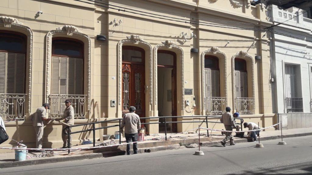 Detalles de seguridad en el Museo Arqueológico Provincial.