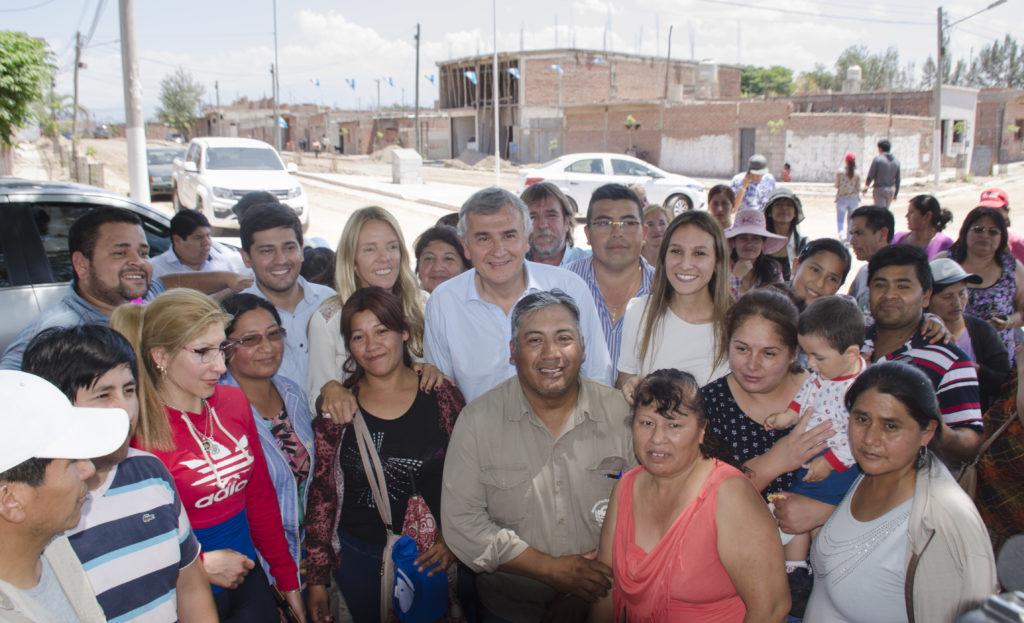 El Gobernador Gerardo Morales, recorrido de obras ciudad de Perico.